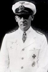 Captain Theodor Detmers, captain of the German raider Kormoran, who led an officers' escape through a tunnel.