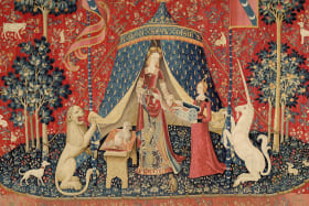 My Sole Desire (detail) from The Lady and the Unicorn tapestry series. Circa 1500.
