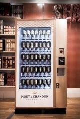 Moet vending machine at Selfridges department store in London