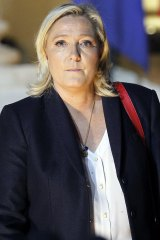 Marine Le Pen, leader of the French far-right National Front (FN).