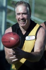 Tigers' team-of-the-century centreman Billy Barrot at a Punt Road reunion in 2007.