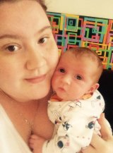 Jessica Brough and her daughter, Grace, who is recovering in Campbelltown Hospital.