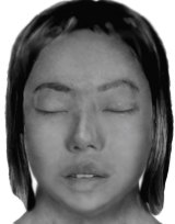 The computer-generated image of Michelle Leng that was released by police when they were seeking to identify her body.