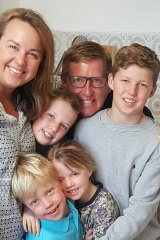 Carolyn Creswell with her husband Pete and their four children, Will, Lily, Oliver and Grace.