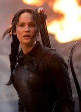 Jennifer Lawrence as Katniss Everdeen in <i>The Hunger Games: Mockingjay</i>.