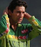 Pakistani all-rounder Wasim Akram during his heyday.