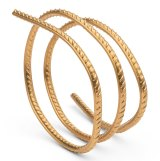 Ai Weiwei's bracelets are made from gold and resemble rebar.