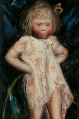 William Dobell's mini masterpiece <i>Cockney kid with hoop</I>, 1936. Oil on plywood, 65 x 30.5 cm, TarraWarra Museum of Art collection