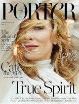 Blanchett on the new cover of Porter.