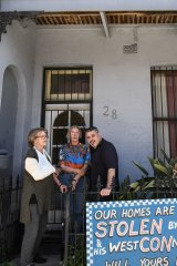 Glenda Evans, left, Shelley Jensen and Richard Capuano will be forced to leave their St Peters homes.