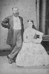 Newlyweds Harry and Maud Berridge in 1869; it was hard for them to be separated.