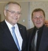 Scott Morrison and Tony Atanasovski, aka The Falcon