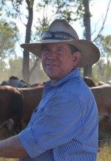 Fifth-generation grass-fed cattle farmer Ian McCamley.