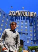 Louis Theroux in <i>My Scientology Movie</i>.