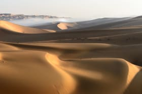 William Atkins traverses a section of the infamous Rub' al-Khali (Empty Quarter) in Oman for his book.