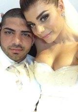 Punchbowl murder victim Hedi Ayoub with wife Jessica.