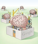Singular vision: Silicon Valley's biggest companies are vying with each to build a fully functional artificial brain. <em>Illustration: Doug Griswold/MCT</em>