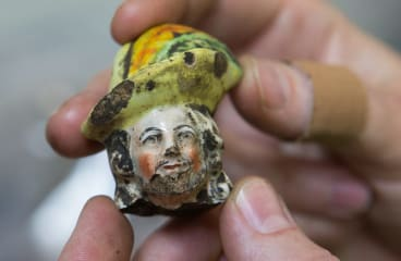 A Staffordshire figurine uncovered at the archaeological dig.