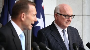 """Under the guise of  """"jobs and growth"""", the government says it must neuter conservation """"vigilantes"""": PM Tony Abbott and Attorney-General George Brandis."""