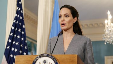 UN refugee ambassador Angelina Jolie's skin is consistently flawless.