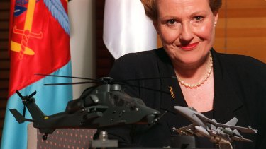 Bronwyn Bishop in her office in 1997.