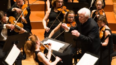 Guest conductor Christoph von Dohnanyi with the Sydney Symphony Orchestra.