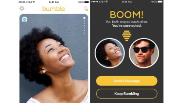 Bumble may look a bit like other dating apps but it only allows women to initiate contact.