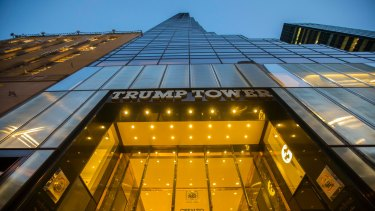 Donald Trump's eponymous golden tower, and sometime home, in New York.
