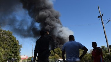 Recycling plant fire in Chullora.
