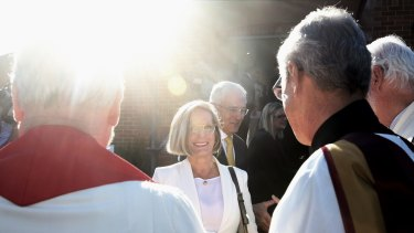 Not seeing the light – married churchgoers Malcolm and Lucy Turnbull.