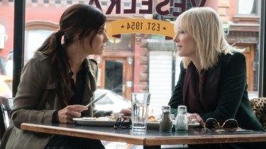 Sandra Bullock, left, and Cate Blanchett in Ocean's 8.