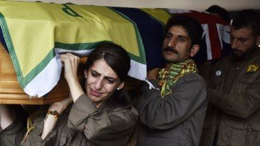 Hundreds of people from the Kurdish community attended the funeral.
