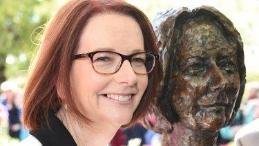 Julia Gillard's likeness was taken by artist Peter Nicholson in 2014.