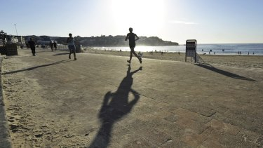 Stepping out: That run along the beach may turn out to be important evidence in court.