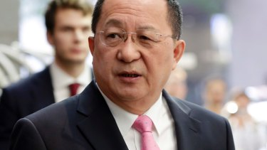 """Just before he left New York on Monday, North Korea's Foreign Minister Ri Yong Ho said the US had """"declared war"""" on North Korea."""
