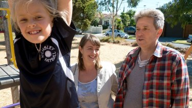 Spousal support: Nicola Roxon with her husband, Michael Kerrisk, and their daughter, Rebecca.