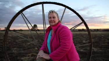 Hallowed ground: Narelle Nothdurft on the family property on Queensland's Western Downs.