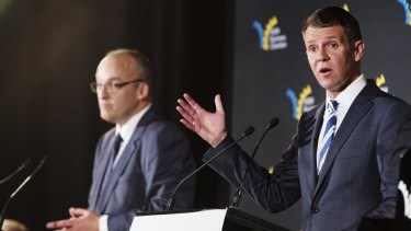 Premier Mike Baird (right) and Opposition Leader Luke Foley put political pragmatism before principles in the racing saga.