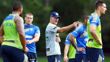 Can they still make the finals?: Coach Brad Arthur puts the Eels through their paces.