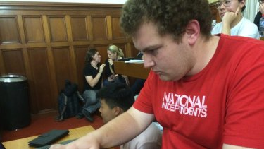 """""""It's really disappointing"""": Cameron Caccamo said the behaviour would damage students' reputations in the wider world."""