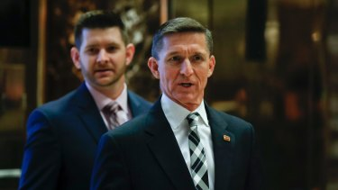 """Michael Flynn resigned as national security adviser after he gave """"incomplete information"""" to Vice President Mike Pence regarding his calls to the Russian ambassador, Sergey Kislyak."""