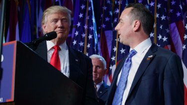 President-elect Donald Trump with his new chief of staff Reince Priebus.
