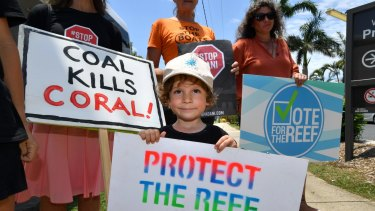 Queensland protesters opposing to the Adani coal mine.