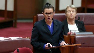 PUP Senator Jacqui Lambie launches a stinging attack against Clive Palmer.