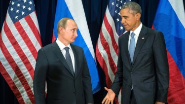 Russia's Vladmir Putin and US President Barack Obama meet last week.