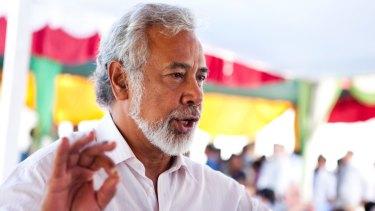 Foreign explusion: East Timor Prime Minister Xanana Gusmao.