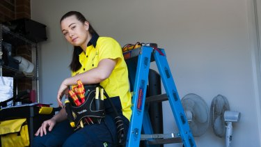 Electrical apprentice Allyce Daley Boorn,23, is disappointed she had a year under a 2 year pilot program for an improved electrical apprenticeship scheme that has not had its funding renewed this financial year