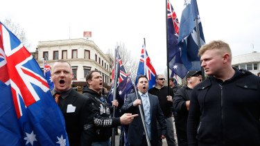 Organisers of the United Patriot Front's anti-Islam rally in Bendigo.