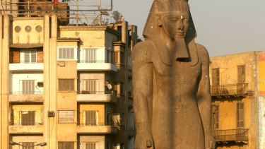 Another statue of Ramses II in Cairo, seen in a file photo.