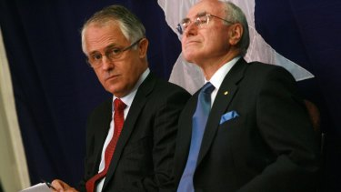 Malcolm Turnbull and John Howard in 2009.